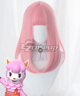 Animal Crossing: New Horizons Reese Risa Pink Cosplay Wig