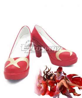 Arena Of Valor Honor of Kings Luna Life long love Red Cosplay Shoes