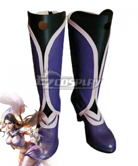 Arena Of Valor Honor of Kings Luna Zixia Fairy Purple Black Cosplay Shoes