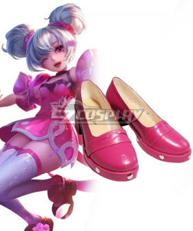 Arena Of Valor Honor of Kings Xiao Qiao Pink Cosplay Shoes