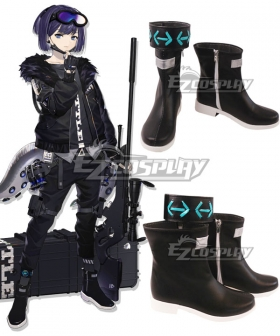 Arknights Andreana Black Cosplay Shoes