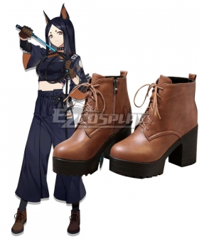 Arknights Dobermann Brown Cosplay Shoes