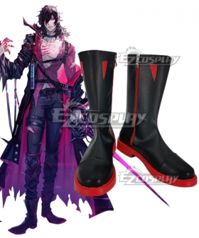Arknights Midnight Bloodline of Combat Black Cosplay Shoes