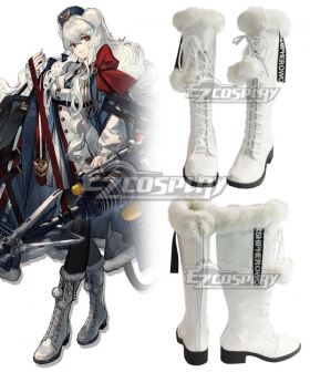 Arknights Poca White Shoes Cosplay Boots