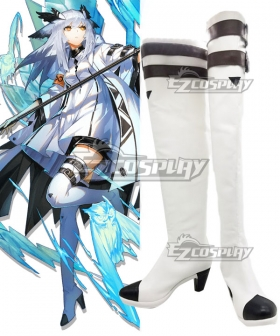 Arknights Ptilopsis Elite Promotion White Shoes Cosplay Boots