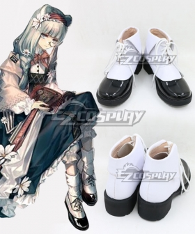 Arknights Истина Rhodes Kitchen Black White Cosplay Shoes
