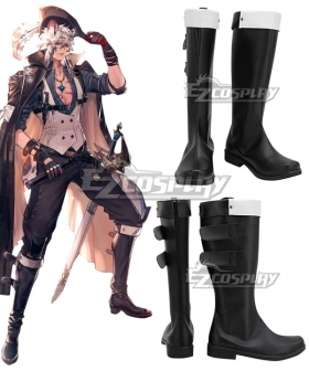 Arknights Silverash SKm01 Summer Skin Brown Shoes Cosplay Boots