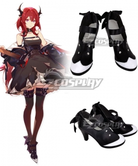Arknights Surtr Black Cosplay Shoes