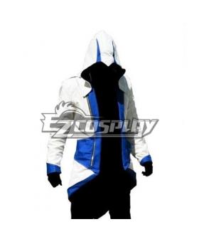 Assassin's Creed II Ezio White & Blue Cosplay Hoodie