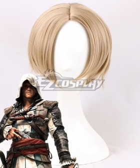Assassin's Creed IV: Black Flag Edward Kenway Light Golden Cosplay Wig