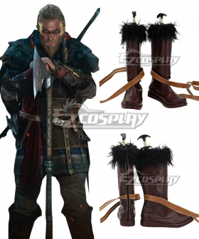 Assassin's Creed Valhalla Eivor Brown Shoes Cosplay Boots