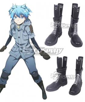 Assassination Classroom Ansatsu Kyoushitsu Shiota Nagisa Black Shoes Cosplay Boots