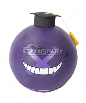 Assassination Classroom Korosensei Wrong Purple Hamlet Mask Cosplay Accessory Prop