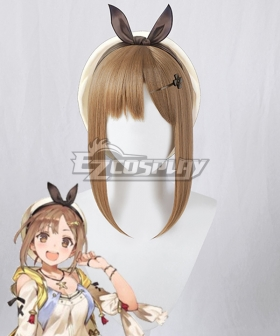 Atelier Ryza: Ever Darkness & the Secret Hideout Reisalin Stout Raizarin Shutauto Raiza Brown Cosplay Wig