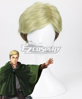 Attack On Titan Erwin Smith Golden Brown Cosplay Wig