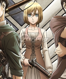Attack on Titan Season 3 Shingeki No Kyojin Krista Lenz Cosplay Costume