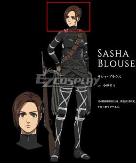 Attack On Titan Shingeki No Kyojin Final Season Sasha Blause Brown Cosplay Wig