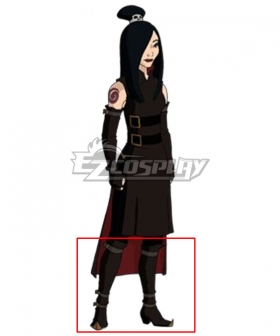 Avatar: The Last Airbender June Black Shoes Cosplay Boots