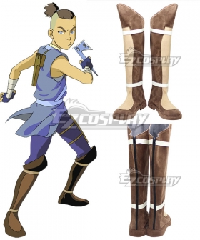 Avatar: The Last Airbender Sokka Brown Shoes Cosplay Boots