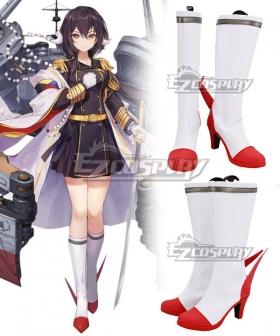 Azur Lane Mikasa Red Cosplay Shoes