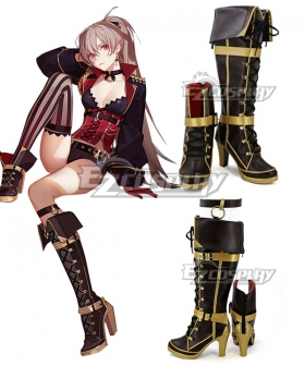 Azur Lane MNF Jean Bart Brown Shoes Cosplay Boots
