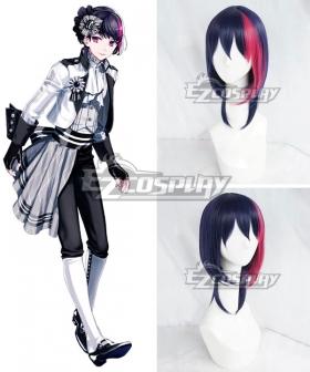 B-Project Kodou Ambitious Ryuji Korekuni Drak blue Pink Cosplay Wig