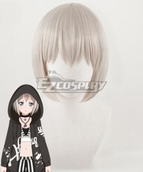 BanG Dream! Aoba Moca Grey Cosplay Wig