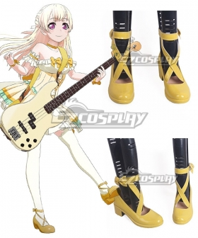 BanG Dream! Chisato Shirasagi Yellow Cosplay Shoes