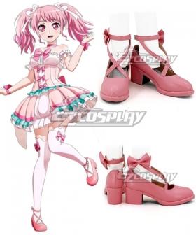 BanG Dream ! Girls Band Party! Maruyama Aya Pink Cosplay Shoes