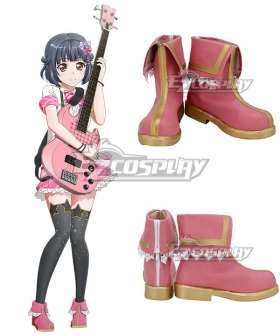 BanG Dream ! Girls Band Party! Poppin'Party Ushigome Rimi Pink Cosplay Shoes