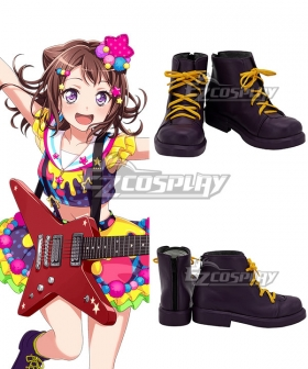 BanG Dream! Poppin'Party Kasumi Toyama Purple Cosplay Shoes