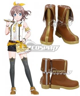 BanG Dream! Poppin' Party Yamabuki Saaya Brown Cosplay Shoes