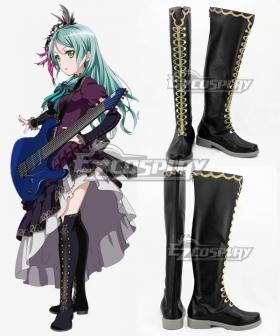 BanG Dream! Roselia Opera Of The Wasteland Hikawa Sayo Black Shoes Cosplay Boots