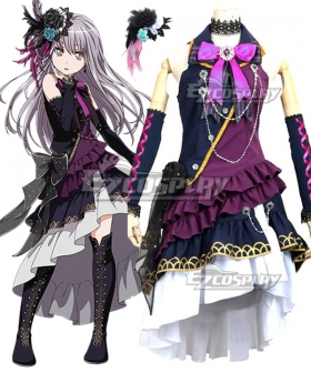 BanG Dream! Roselia Yukina Minato BLACK SHOUT Cosplay Costume
