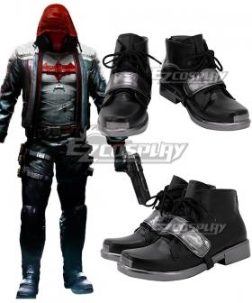 Batman: Arkham City Red Hood Black Cosplay Shoes