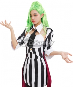 Beetlejuice Bishoujo Betelgeuse Female Halloween Green Cosplay Wig