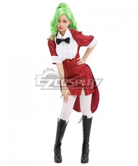 Beetlejuice Bishoujo Betelgeuse Female Red Halloween Cosplay Costume