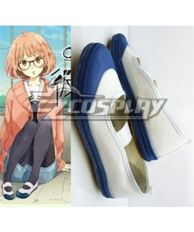 Beyond the Boundary (Kyokai no Kanata) Kuriyama Mirai School Cosplay Blue Shoes