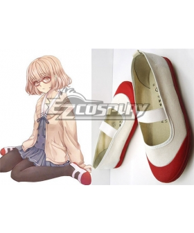 Beyond the Boundary Kyokai no Kanata Kuriyama Mirai School Cosplay Red Shoes