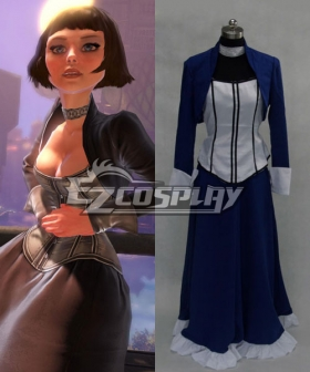 BioShock 3 Infinite Elizabeth Blue Dress Cosplay Costume
