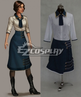 BioShock 3 Infinite Elizabeth Green Dress Cosplay Costume