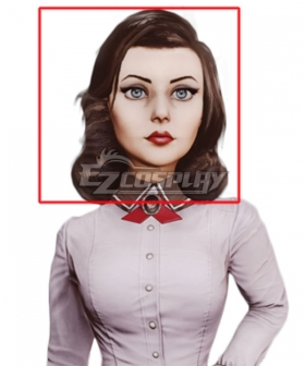 BioShock Infinite Elizabeth Deep Brown Cosplay Wig