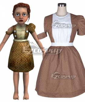 Bioshock Little Sister Maid Dress Cosplay Costume