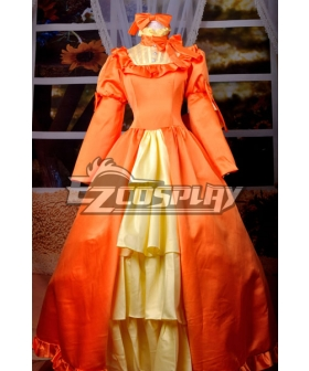 Black Bulter Elizabeth Orange Dress Cosplay Costume