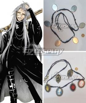 Black Butler Kuroshitsuji Movie: Book of the Atlantic Undertaker Necklace Cosplay Accessory Prop
