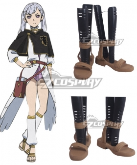Black Clover Noelle Silva Yellow Cosplay Shoes