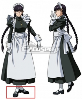 Black Lagoon Roberta Maid Black Cosplay Shoes
