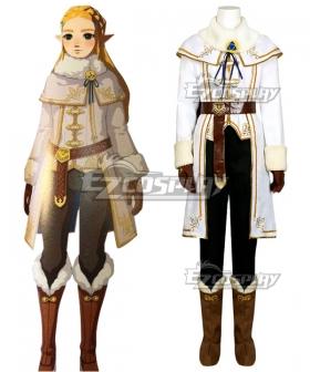 The Legend Of Zelda: Breath Of The Wild Princess Zelda Champions Ballad DLC Winter Outfit Cosplay Costume