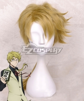 Bungou Stray Dogs Doppo Kunikida Light Brown Cosplay Wig