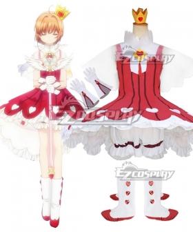 Cardcaptor Sakura Clear Card OP 2 Sakura Kinomoto Rose Heart Dress Cosplay Costume